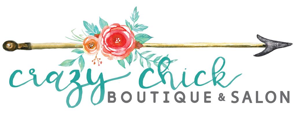 CrazyChickBoutique and Salon Logo